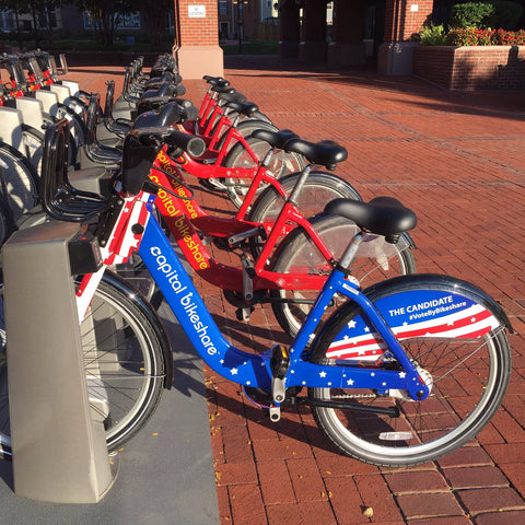 Beautiful bicycle wrapped in DC for Vote campaign this is how we roll
