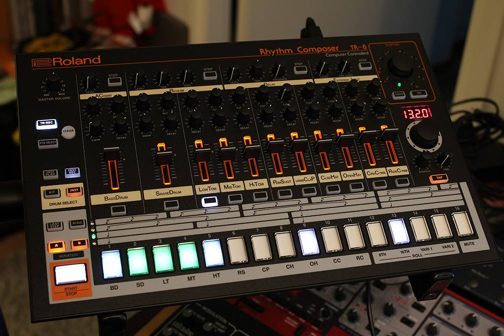 Roland TR-8 Face Panel Modification