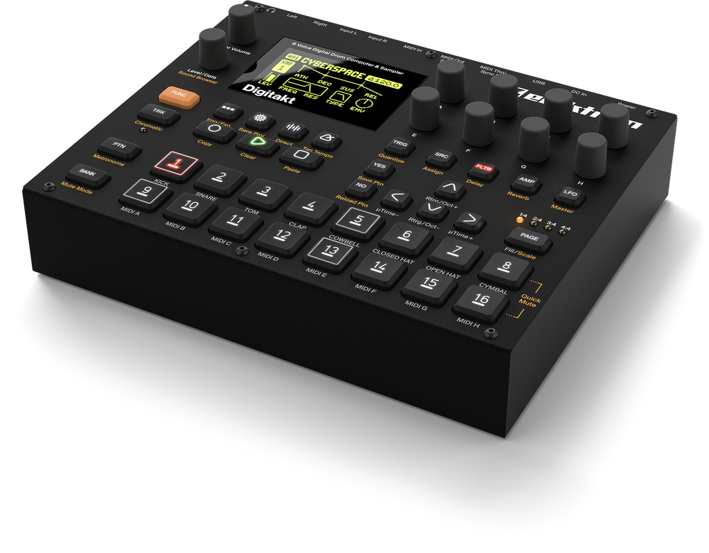 Superbooth 2017: Elektron Digitakt 8 Voice Digital Drum Machine And Sampler