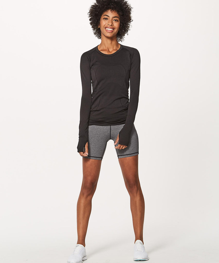 Swiftly Tech Long Sleeve Crew - Black