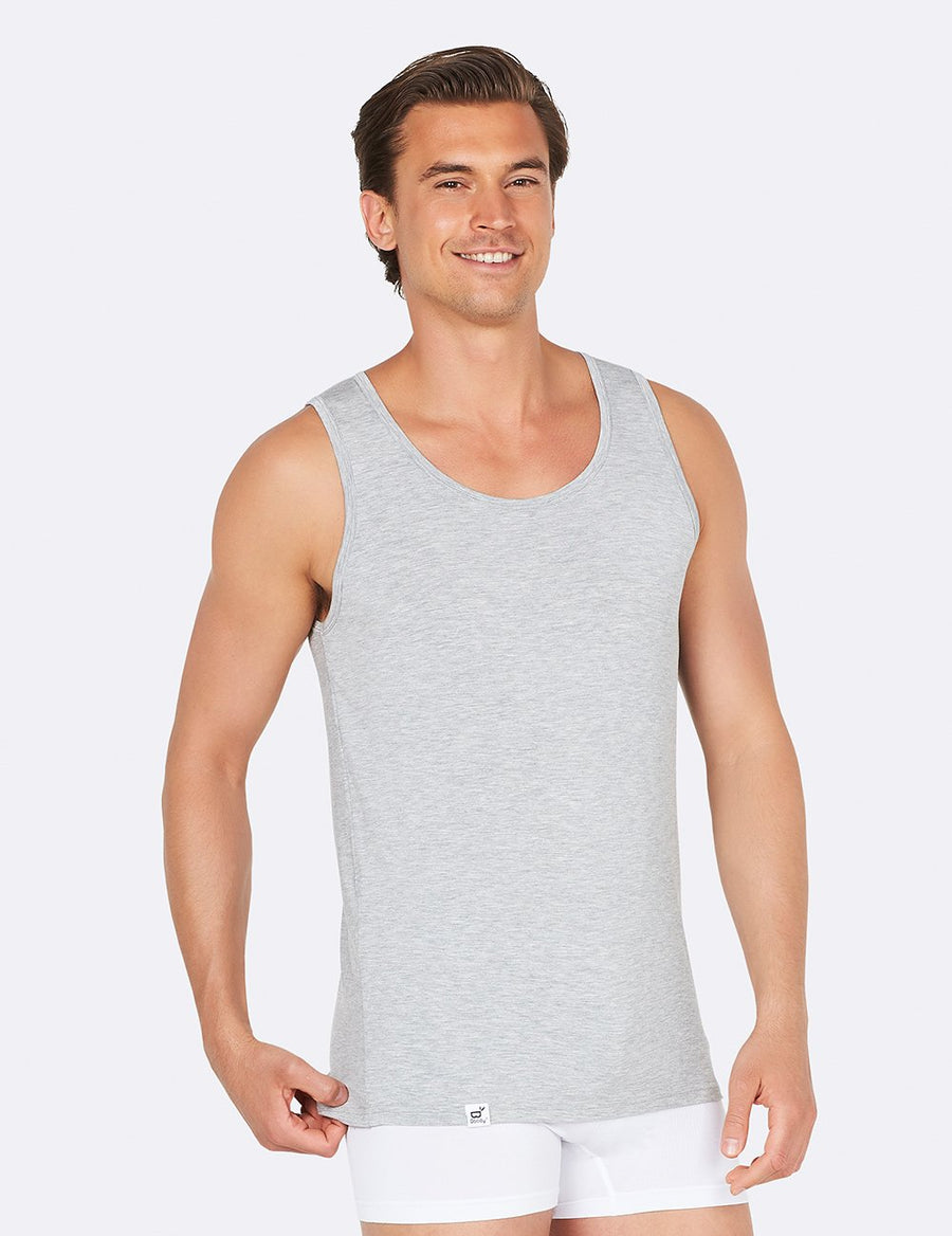 Singlet Tank Top - Light Marl