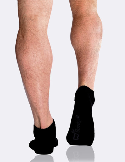 Boody - Men's Low Cut Sneaker Socks - Sort - goyogi.dk