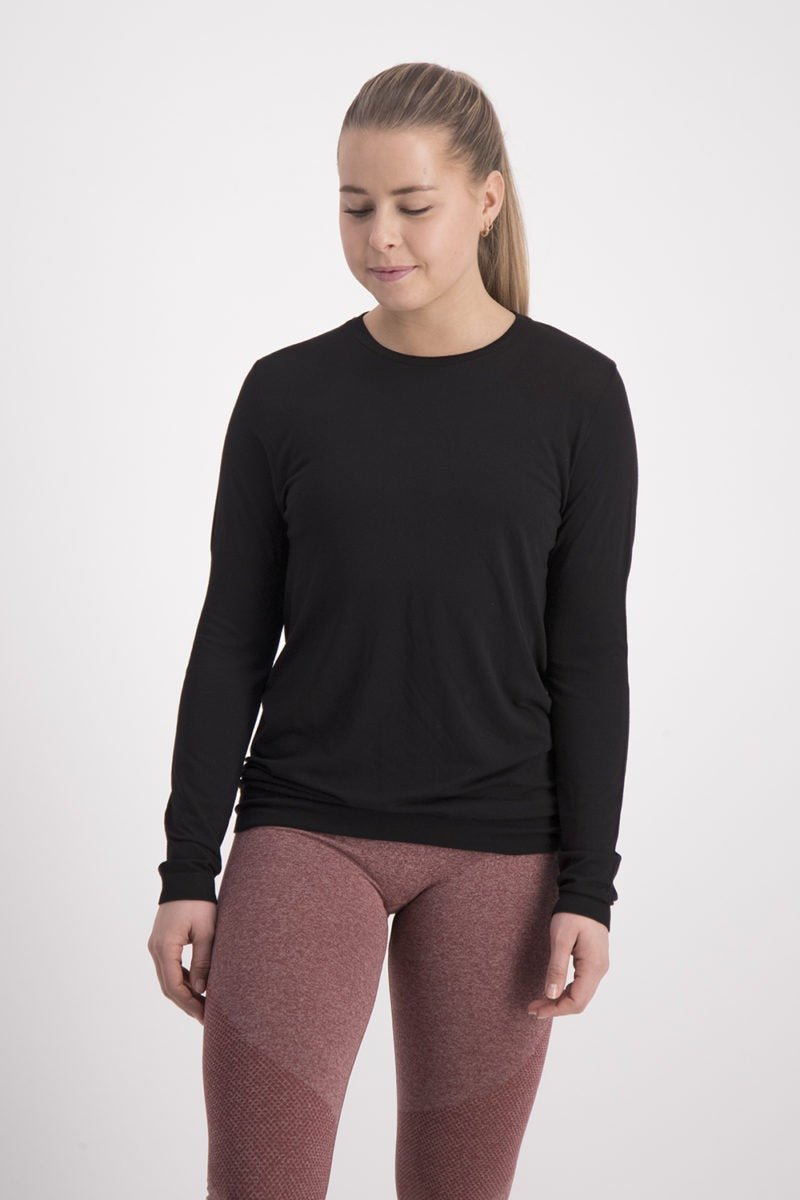 Balasana Bamboo Long Sleeve - Black