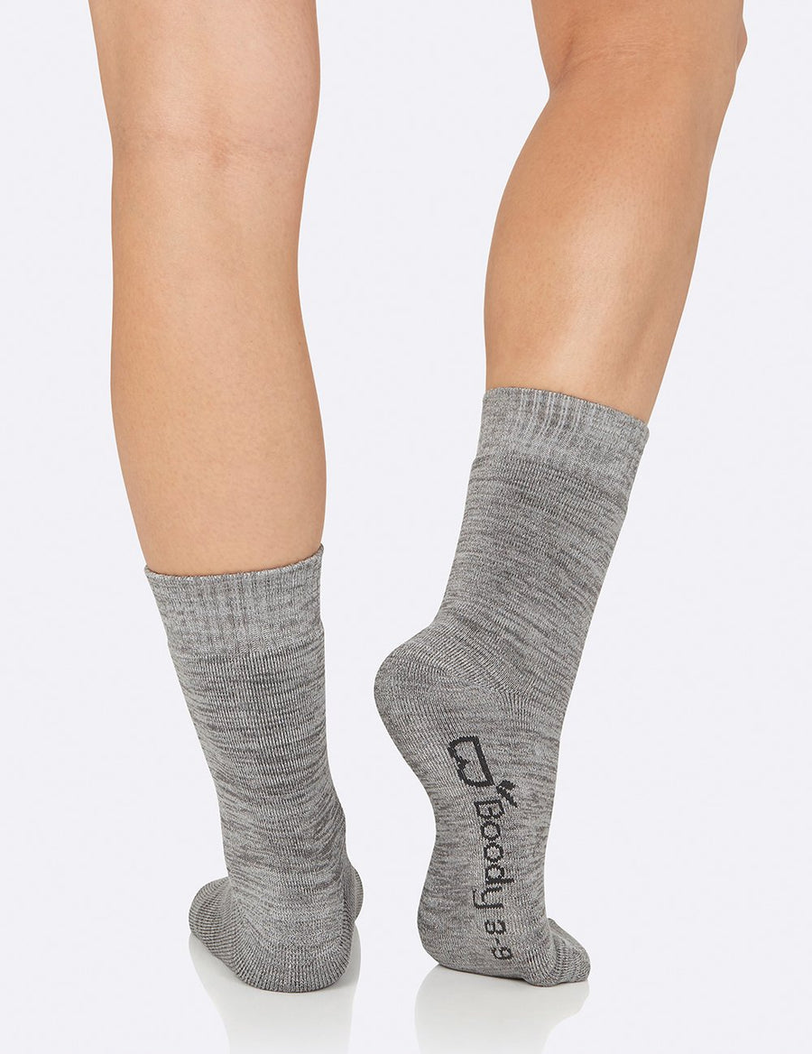 Bambus Women's Crew Boot Socks - Grey