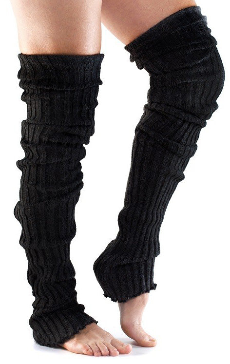 Toesox Benvarmer - Thigh High Black