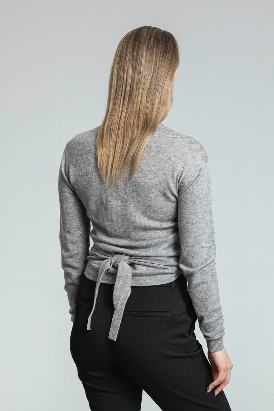 Dinadi - Merino Wrap Cardigan - Flint Grey