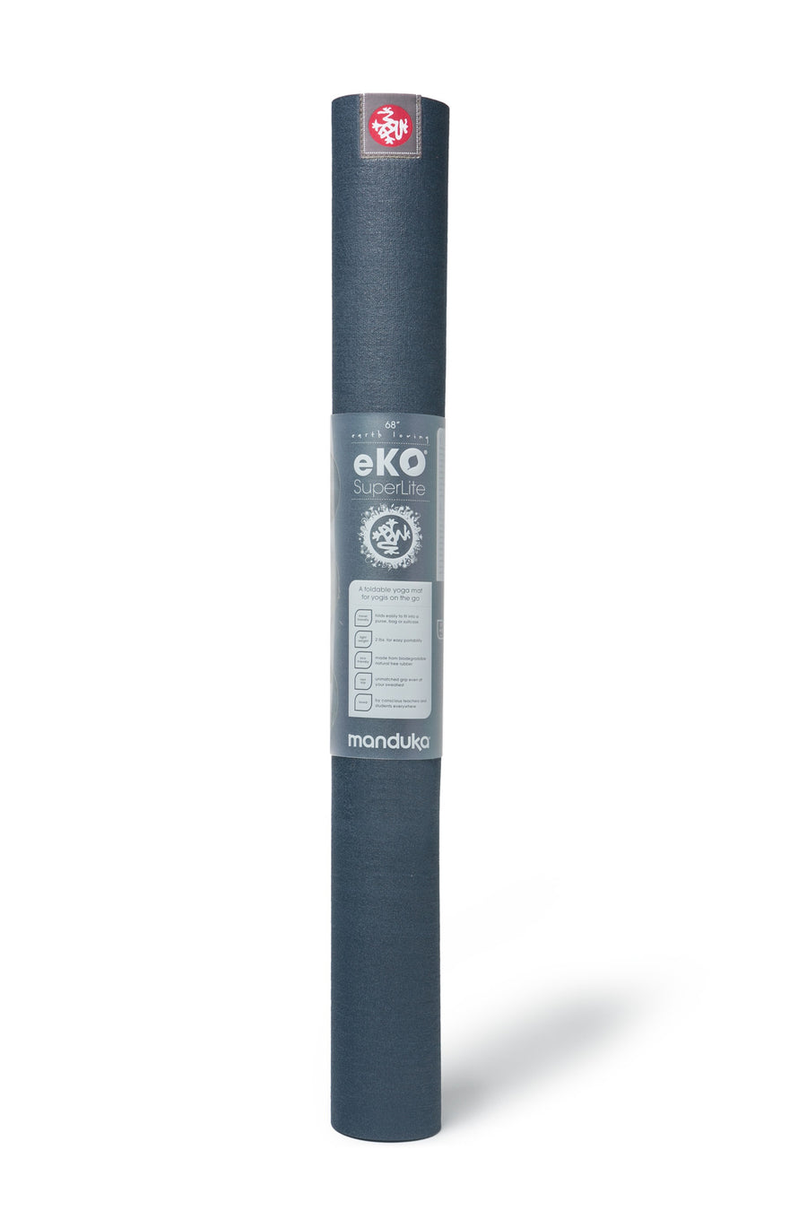 Manduka - MANDUKA eKO SuperLite Travel Mat - Midnight - goyogi.dk
