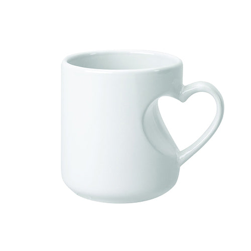 Blank 12 oz Lover's Mug (Red/White),[wholesale],[Simply+Green Solutions]