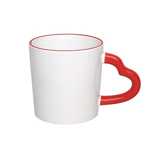 14 oz Heart Handle Coffee Mugs (Color/ Halo),[wholesale],[Simply+Green Solutions]
