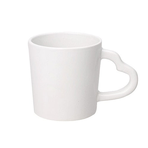 Blank 14 oz Heart Handle Coffee Mugs (Color/ Halo),[wholesale],[Simply+Green Solutions]