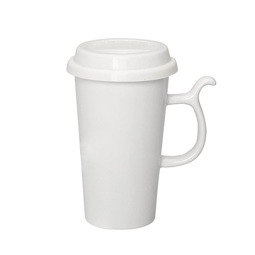 Blank 13 oz Ceramic Travel Mugs W/lid,[wholesale],[Simply+Green Solutions]
