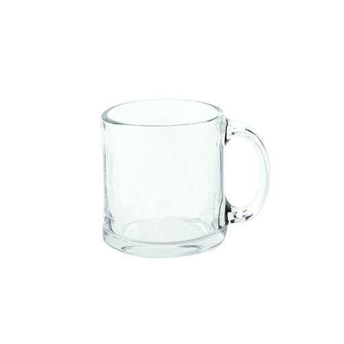 Blank 13 oz Glass Coffee Mugs (Made in USA),[wholesale],[Simply+Green Solutions]