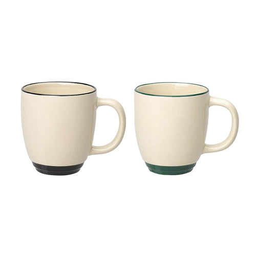 11 oz Two Tone Bistro Mugs,[wholesale],[Simply+Green Solutions]