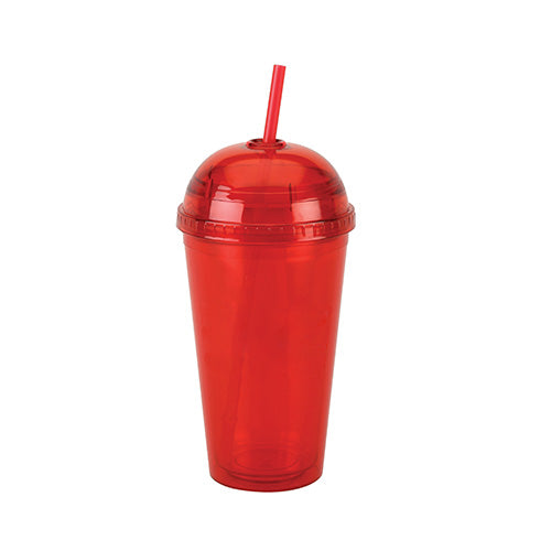 Blank 16 oz Double Wall Acrylic Cup Round Top w/ Straw,[wholesale],[Simply+Green Solutions]