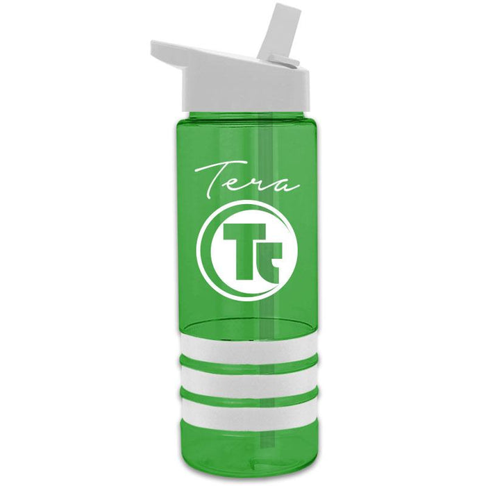 24 oz Sergeant2 Tritan Stripe w/ Straw Lid (Pack of 100),[wholesale],[Simply+Green Solutions]
