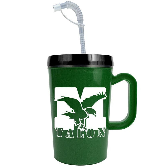 22 oz Insulated Mug with Straw (Pack of 150),[wholesale],[Simply+Green Solutions]