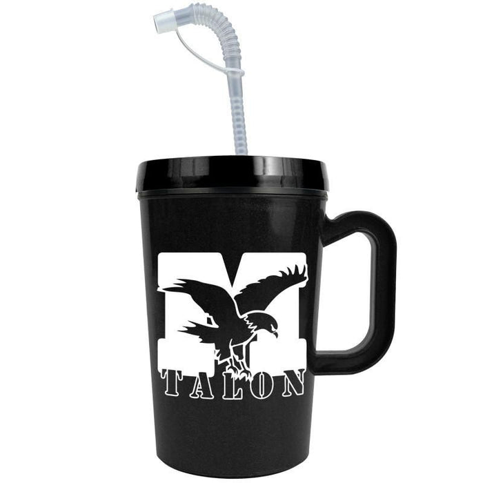 22 oz Insulated Mug with Straw ,[wholesale],[Simply+Green Solutions]