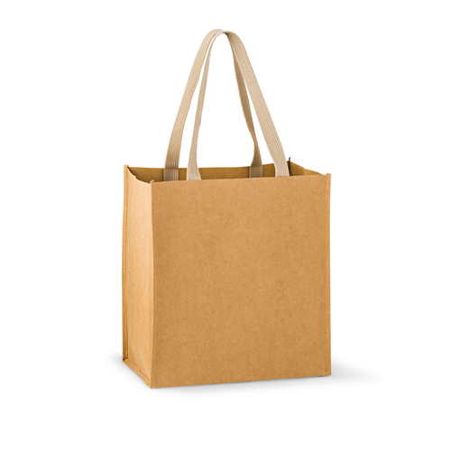 Washable Kraft Paper Tote Bag w/ Web Handle,[wholesale],[Simply+Green Solutions]