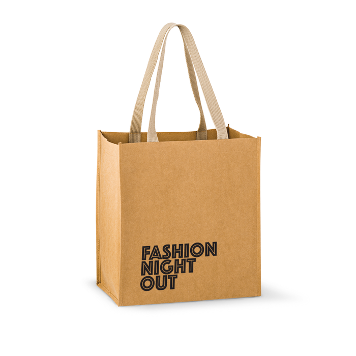 Tsunami - Washable Kraft Paper Tote Bag w/ Web Handle,[wholesale],[Simply+Green Solutions]