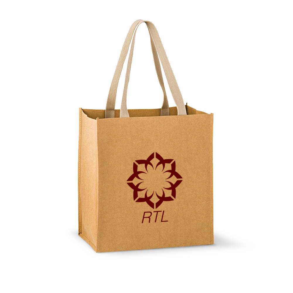 Washable Kraft Paper Tote Bag - Typhone,[wholesale],[Simply+Green Solutions]