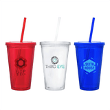 16 oz Double Walled Acrylic Tumblers (Pack of 24)