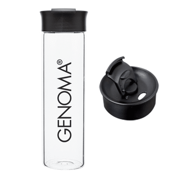 18 oz Glass Sip-Top Water Bottle