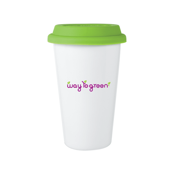 11 oz Porcelain Terra Tumblers w/Silicone Lid,[wholesale],[Simply+Green Solutions]
