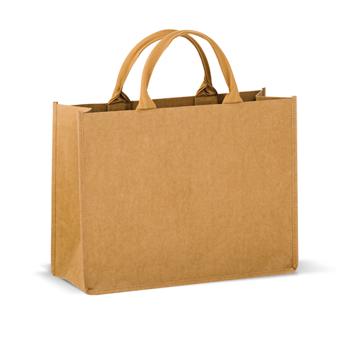 Washable Kraft Paper Tote Bag w/ Contoured Handle,[wholesale],[Simply+Green Solutions]