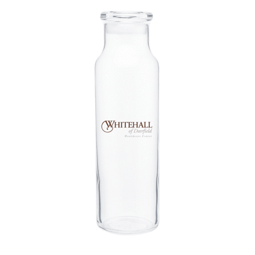 22 oz Clear Glass Vibe Water Bottle