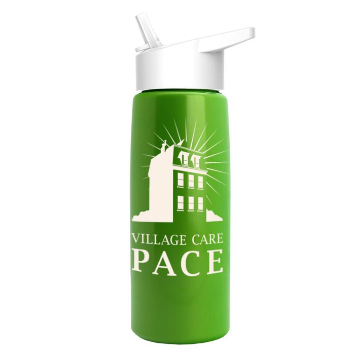26 oz Metallic Flair Bottle w/ Flip Straw Lid ,[wholesale],[Simply+Green Solutions]