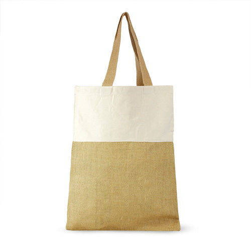 Blank Jute and Cotton Shopping Bag,[wholesale],[Simply+Green Solutions]
