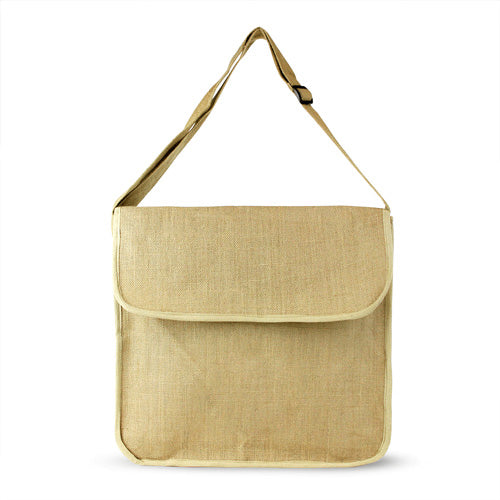 Blank Jute Messenger Bag,[wholesale],[Simply+Green Solutions]