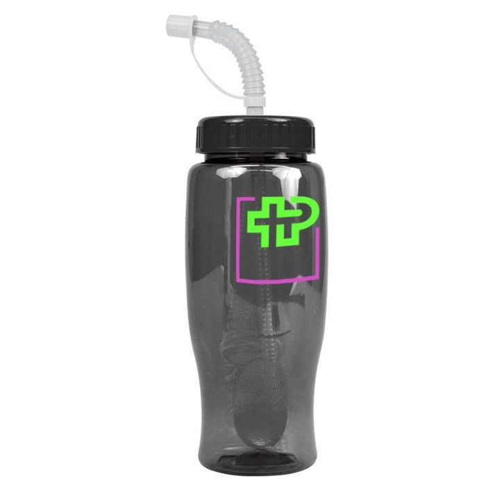 27 oz Transparent Bottle with Straw ,[wholesale],[Simply+Green Solutions]