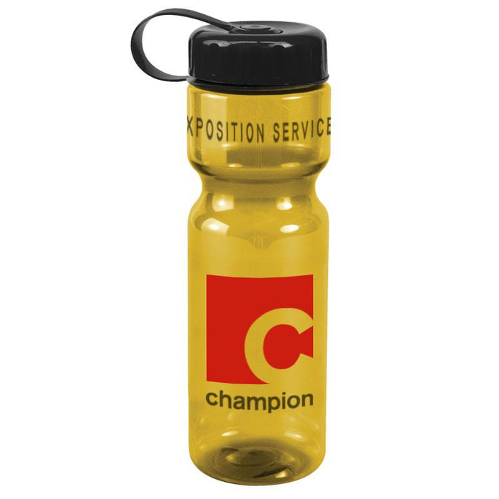 28 oz Champion Transparent Bottle w/ Tethered Lid ,[wholesale],[Simply+Green Solutions]