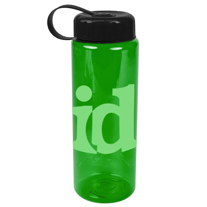 32 oz The Guzzler Transparent Bottle w/ Tethered Lid ,[wholesale],[Simply+Green Solutions]