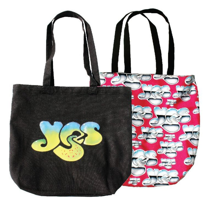 Reversible Black Cotton Tote w/Full Color Sublimated Liner