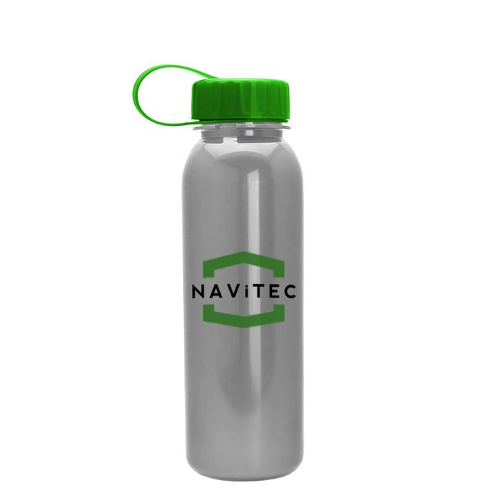 24 oz Metalike Bottle w/ Tethered Lid (Pack of 100),[wholesale],[Simply+Green Solutions]