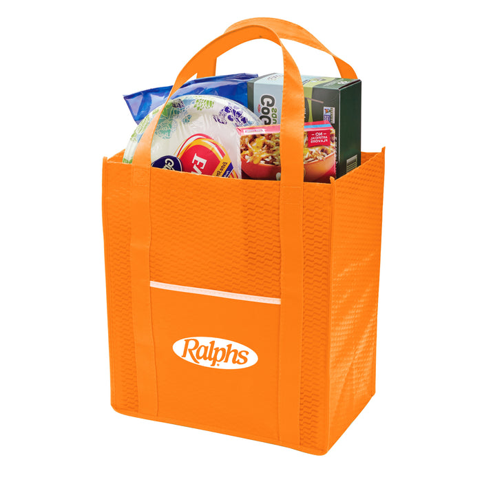 WAVY NON-WOVEN GROCERY TOTE