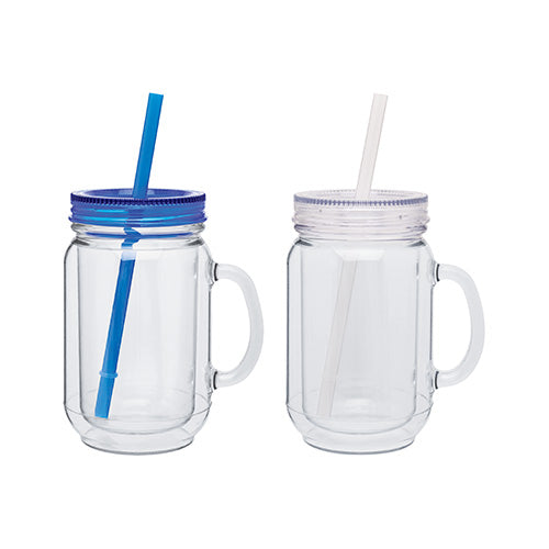 18 oz. Double Wall Acrylic Mason Mug,[wholesale],[Simply+Green Solutions]