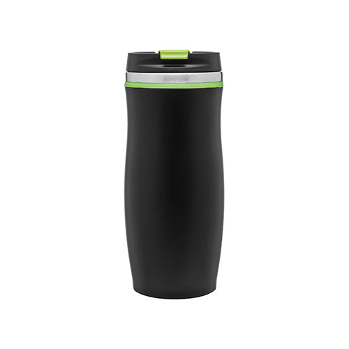 12 oz Stainless Steel Tumbler With Threaded Flip Top Lid - Berlin (Matte Black),[wholesale],[Simply+Green Solutions]