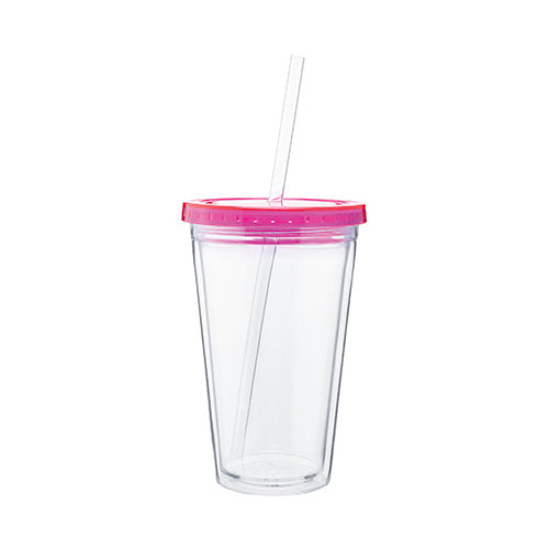 16 oz Spirit Acrylic Tumbler w/Color lid,[wholesale],[Simply+Green Solutions]