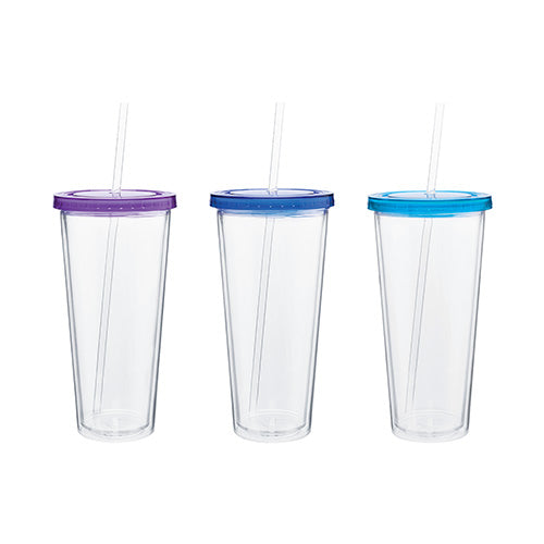 Blank 20 oz Spirit Acrylic Tumbler w/Color Lid,[wholesale],[Simply+Green Solutions]