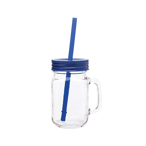 16 oz Glass Mason Mug w/Color Lid,[wholesale],[Simply+Green Solutions]