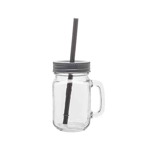 Blank 16 oz Glass Mason Mug w/Color Lid,[wholesale],[Simply+Green Solutions]