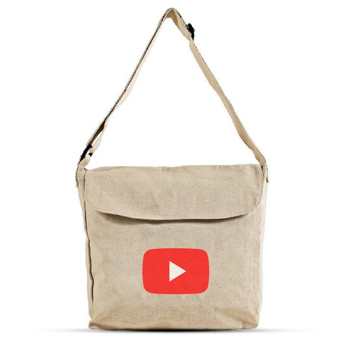 Front Flap Cotton Messenger Bag