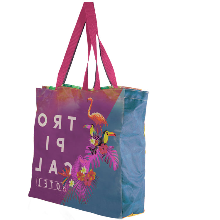 Medium Full Gusset Vibrant Color - Cotton Tote