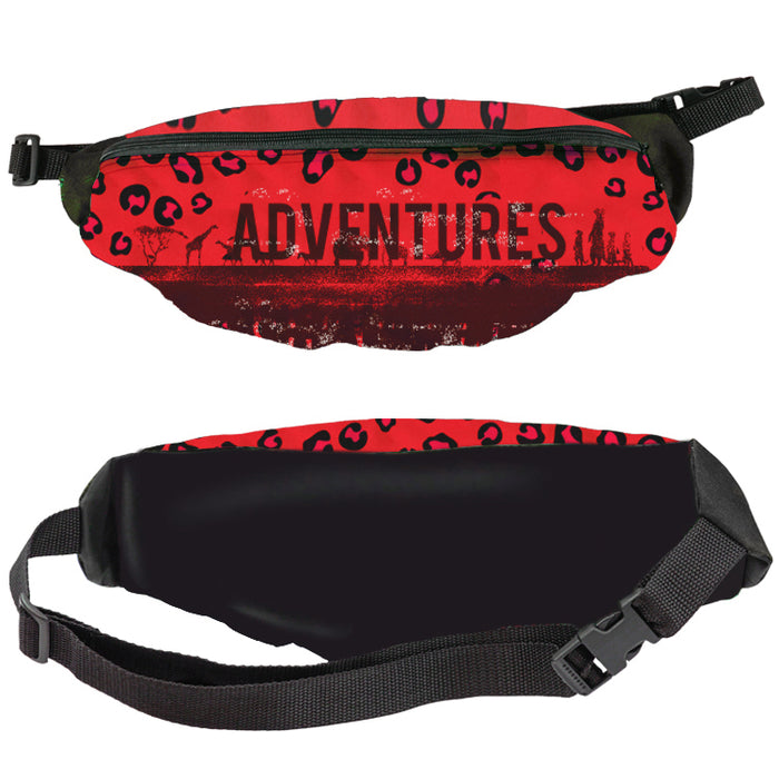 Wide Full Color Front Only Fanny Pack