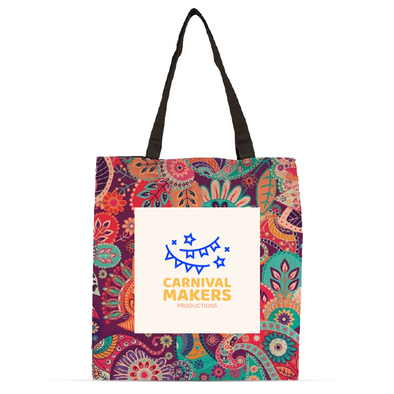 Flat Vibrant Cotton Tote Bag
