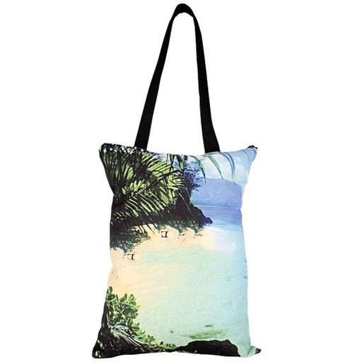 Simple Zippered Tote Bag - Full Color - Sewn in the USA