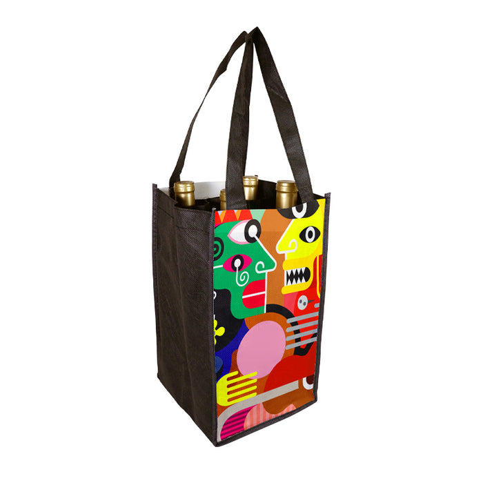 Four Bottle Wine Shopper Bag